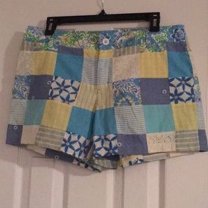 Lilly Pulitzer shorts | Madras patchwork | Size: 8
